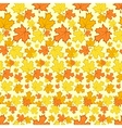 Seamless pattern with colorful autumn leaves vector image