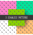 set of five seamless patterns for your products vector image vector image