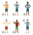 Set of Football players vector image vector image