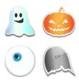 Set of Halloween stickers Pumpkin ghost eye R vector image vector image