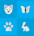 set of simple wild icons vector image vector image