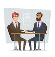 sign contract business meeting selling deal vector image vector image