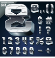 Silver chrome or aluminum 3D alphabet vector image vector image
