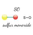 SO sulfur monoxide molecule vector image vector image