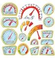 Speedometer Icons set cartoon style vector image vector image