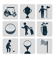 Sport golf club vector image