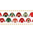 ugly christmas sweaters seamless border vector image vector image