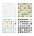 uiux icons set vector image