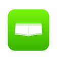 underpants icon green vector image vector image