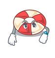 waiting swim tube mascot cartoon vector image