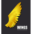 Wings design vector image vector image