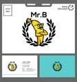 yellow banana logo character minimalist concept vector image