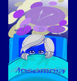 woman with insomnia vector image
