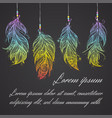 card with native american indian talisman vector image
