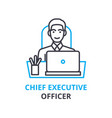 chief executive officer concept outline icon vector image