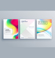 abstract colorful poster design concept template vector image