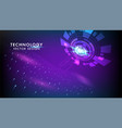 abstract technology background hi-tech vector image vector image