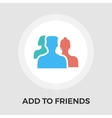Add to Friends Flat Icon vector image vector image