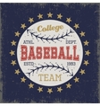 Baseball Colored Print vector image vector image