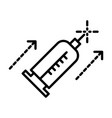 beauty injection syringe isolated line icon vector image