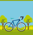 bicycle in the landscape vector image