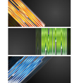 Bright banners vector image vector image