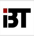 bt ibt bit initials company logo vector image vector image