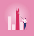 businessman painting chart - business planning vector image vector image