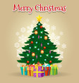cartoon christmas tree card vector image vector image