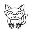 cat animal cartoon vector image vector image