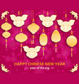 chinese new year background with creative stylized vector image vector image