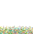 Christmas background frame from colorful confetti vector image vector image