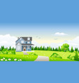classic house in summer landscape vector image vector image