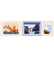 collection train aircraft or ship window views vector image