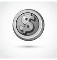 conceptual coin money isolated on a white vector image