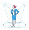 confident businesswoman - line design style vector image vector image