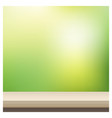 empty table top on blurred garden background vector image