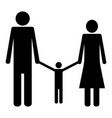 family the black color icon vector image vector image