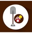 farm countryside shovel tool design vector image vector image