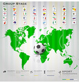 Football Tournament Sport Infographic Background vector image vector image