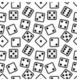 gambling dices seamless pattern on white vector image vector image