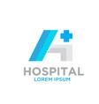 h hospital logo designs vector image vector image