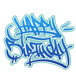 Happy Birthday graffiti style vector image vector image