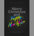 happy new year 2021 and merry christmas layout vector image vector image