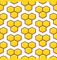 honeycomb yellow seamless pattern vector image vector image