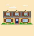 house front view cottage vector image