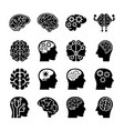 human minds icons vector image vector image