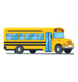 icon of school bus isolated on white vector image vector image