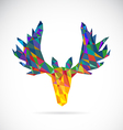 image of an deer head design vector image