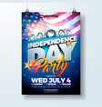independence day usa party flyer vector image vector image